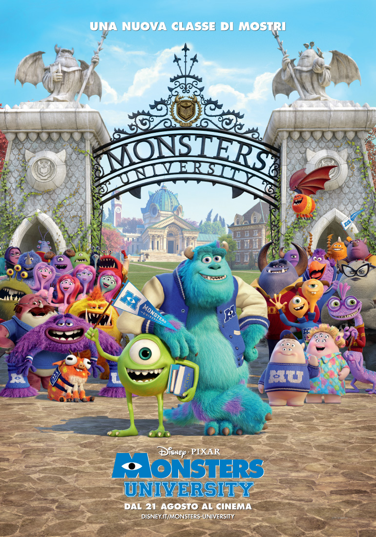 monsters university, locandina italiana