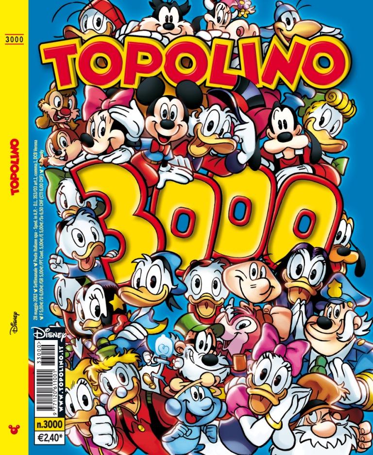 topolino 3000 copertina cover intera grande