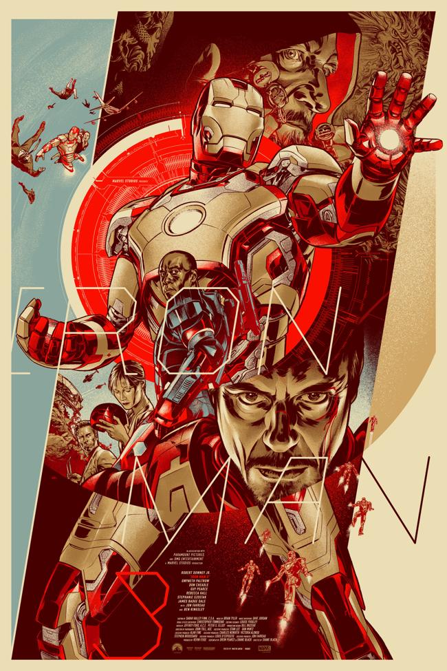 iron-man 3 poster mondo
