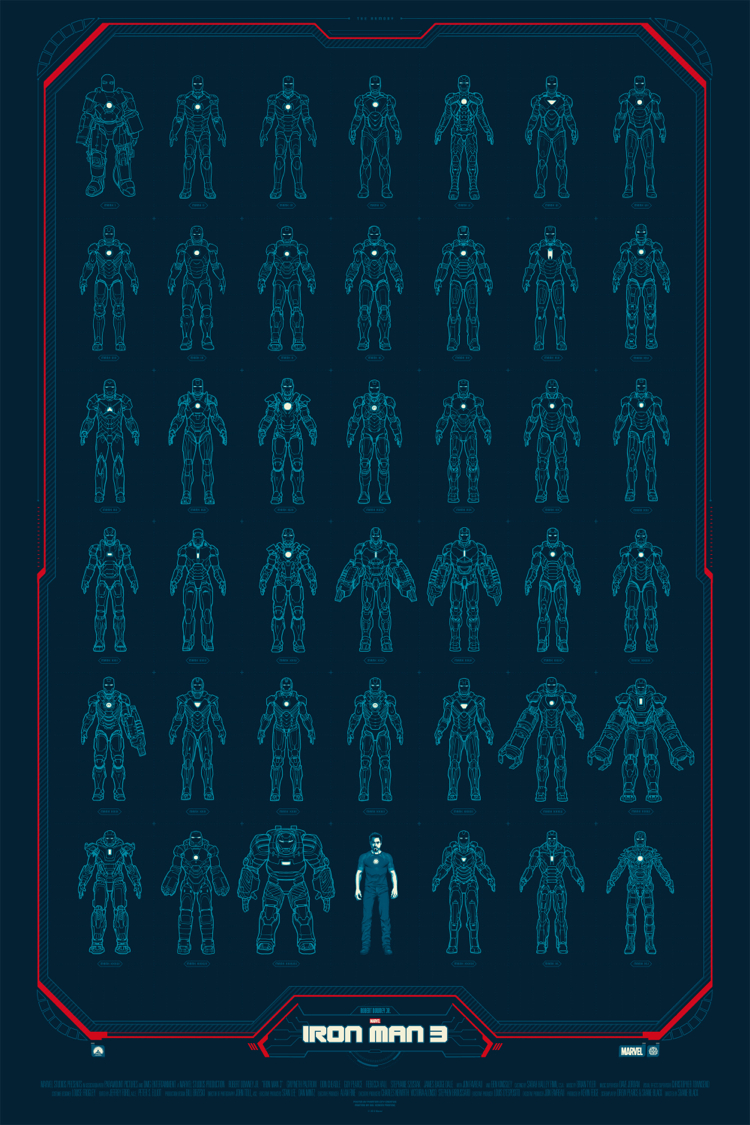 iron-man 3 poster mondo 3